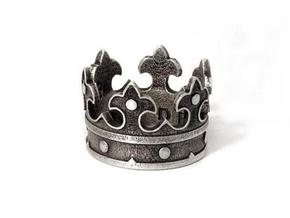 Crown Ring (various sizes) in Polished Silver