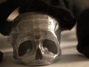 Skull Ring US 10 by Bits to Atoms in Stainless Steel
