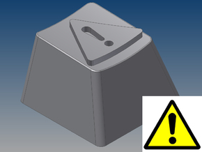 """""""Caution!"""" Keycap (R4, 1x1) in White Strong & Flexible"""