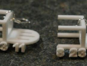 Earthquake Chair Earrings in White Strong & Flexible