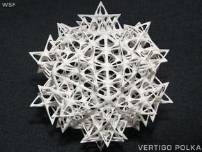 Fractal Icosahedron 140mm in White Strong & Flexible
