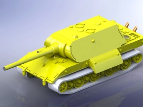 E-100 Heavy Tank  Maus-Turret Variant 1/285 6mm in Frosted Ultra Detail