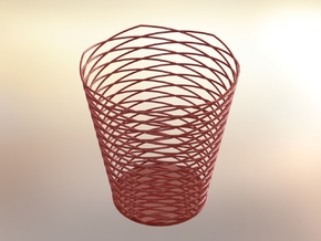 Pencil Holder in Red Strong & Flexible Polished