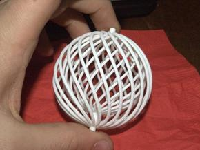 spiral ball in a ball toy in White Strong & Flexible