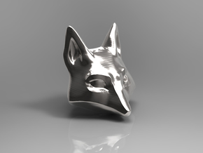 Large Foxhead Medallion in Metallic Plastic