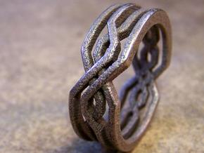 Tribal Ring in Stainless Steel