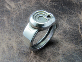 Circle Ring in Polished Silver