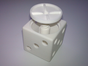 *ring holder dice cube in White Strong & Flexible
