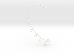 Ear Cuff in White Strong & Flexible Polished
