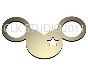 mickey star eye in White Strong & Flexible Polished