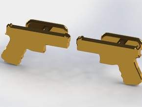 9MM CUFFLINKS in Raw Bronze