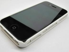 iPhone 4 / 4s case - Cell 2 in White Strong & Flexible Polished