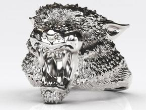 Tiger Ring in Polished Silver