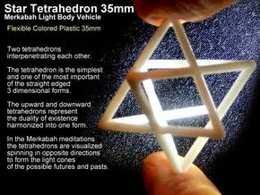 Startetrahedron Merkabah 35mm X 1mm in White Strong & Flexible