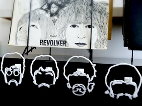 The Beatles: Wire Wall Art (Large) in White Strong & Flexible