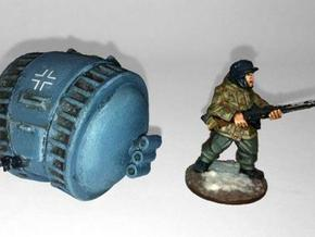 Tank- Kugelpanzer (1/56th) in White Strong & Flexible