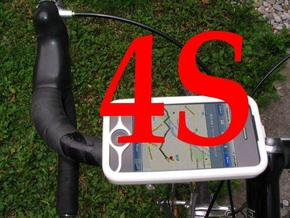 "iPhone 4S bike mount assembly 1"" in White Strong & Flexible"