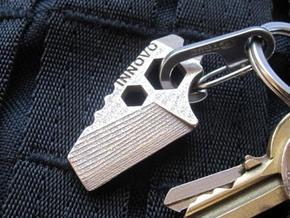 ''ShapeTool Micro'' Keychain Multitool in Stainless Steel