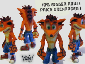 Crash Bandicoot - Normal Pose 76mm in Full Color Sandstone