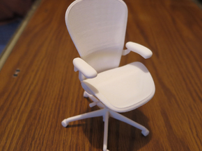 "Aeron Chair 4.85"" tall in White Strong & Flexible"