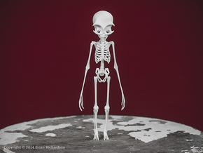 Grey Alien Skeleton in White Strong & Flexible