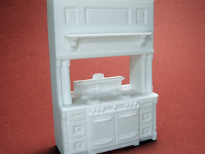 1:48 Farmhouse Vintage Cabinet in White Strong & Flexible