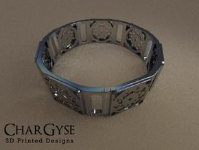 Bangle - Suspended Coin in Frosted Ultra Detail