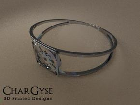 Elegant Bangle - Eight Petal Supported in Frosted Ultra Detail