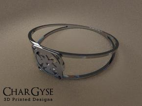 Elegant Bangle - Eight Petal Floating in Frosted Ultra Detail