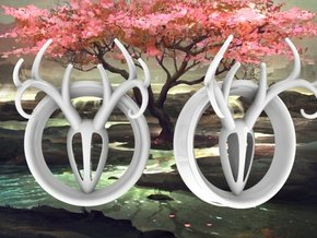 1 & 15/16 inch Antler Tunnels in White Strong & Flexible Polished