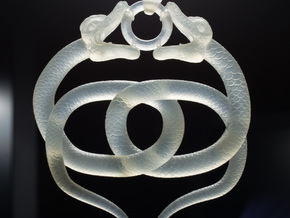 Double Snake Amulet in Frosted Ultra Detail