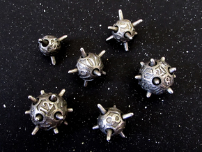 Sputnik Dice Set in Stainless Steel