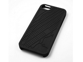 Upper West Side NYC Map iPhone 5/5s Case in Black Strong & Flexible