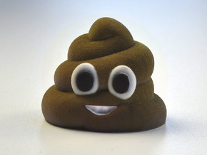 3D Emoji Mr. Poo in Full Color Sandstone