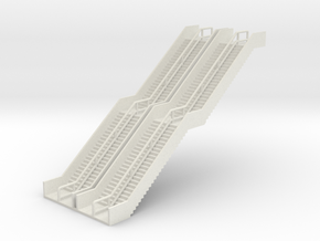N Scale 2x Stairs Elevated Tram H61mm in White Strong & Flexible