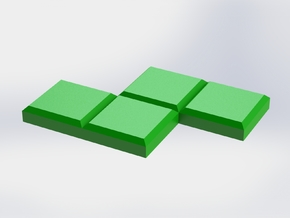 Green Zigzag Coaster in Green Strong & Flexible Polished