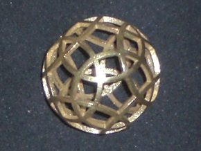 Stripsphere Pendant in Raw Brass