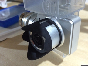 Petal lens hood for Phantom 2 Vision+ in Black Strong & Flexible