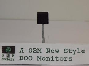 A-02M Modern DOO CCTV Monitors in Frosted Ultra Detail