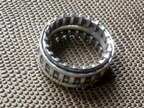 Warp Drive Ring  - Size 11 1/2 (20.98 mm) in Polished Silver