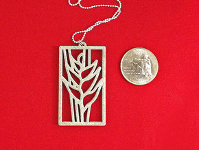 Heliconia Pendant in White Strong & Flexible Polished