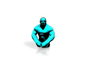 Small Grappler - Cyan in White Strong & Flexible