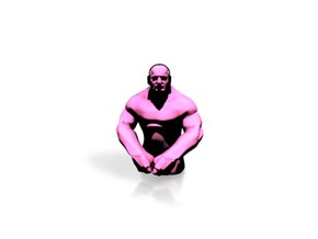 Small Grappler - Pink in White Strong & Flexible