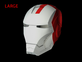 Iron Man Helmet - Head Left Side (Large) 2 of 4 in White Strong & Flexible