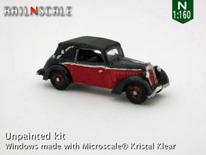 DKW F7 Front Luxus Cabriolet (N 1:160) in Frosted Ultra Detail