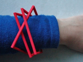 Interlocking Square Bracelets Small in Red Strong & Flexible Polished