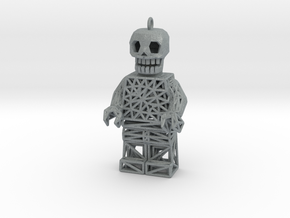 Los Muertos Lego Man Solid Head in Polished Metallic Plastic