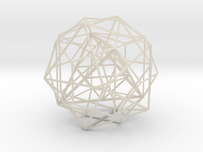 Nested Polyhedra, Large in White Acrylic