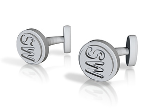 Custom cufflink nr.16 in Metallic Plastic