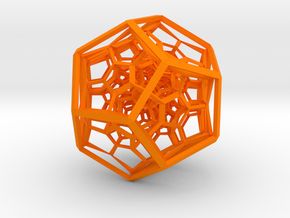 120-cell in Orange Strong & Flexible Polished